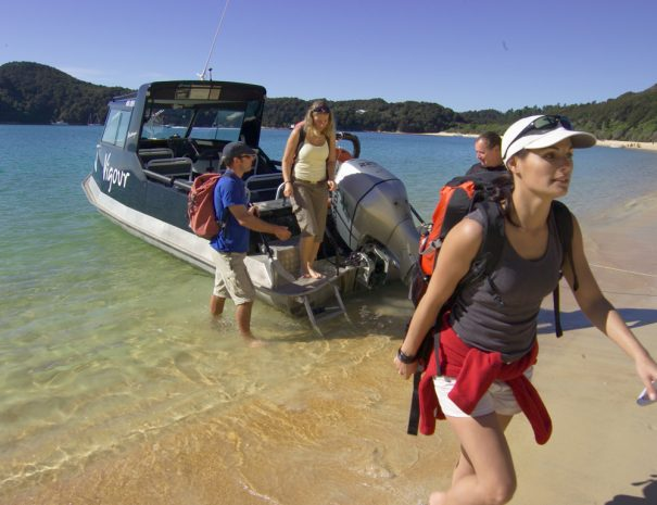 What to bring when getting off Water Taxi
